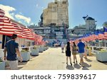 row of flags at pearl harbour...   Shutterstock . vector #759839617