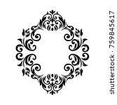 vintage baroque frame scroll... | Shutterstock .eps vector #759845617