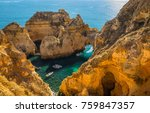 coastal exposure of the... | Shutterstock . vector #759847357