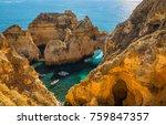 coastal exposure of the... | Shutterstock . vector #759847357