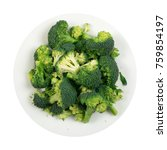 broccoli florets on plate...   Shutterstock . vector #759854197