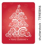 abstract christmas tree with... | Shutterstock .eps vector #75985846