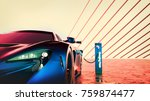 Electric Power Super Car. 3d...