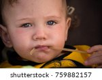 small child with redness on the ... | Shutterstock . vector #759882157