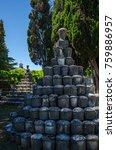 funerary roman urns in aquileia ...   Shutterstock . vector #759886957