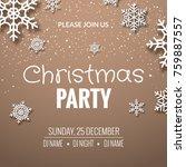 christmas party invitation... | Shutterstock .eps vector #759887557