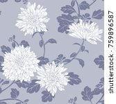 floral seamless pattern with... | Shutterstock .eps vector #759896587
