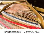 lines of coiled bass strings