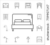 bed icon. set of household... | Shutterstock .eps vector #759907147