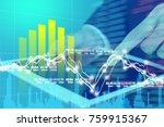 business man digital stock... | Shutterstock . vector #759915367