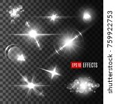 silver shine of sparkles and... | Shutterstock .eps vector #759922753