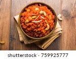 gajar ka halwa is a carrot... | Shutterstock . vector #759925777