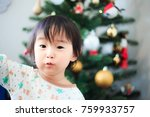 cute child  christmas image | Shutterstock . vector #759933757