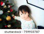 cute child  christmas image | Shutterstock . vector #759933787