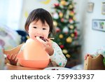 cute child  christmas image | Shutterstock . vector #759933937
