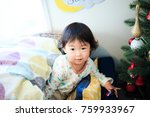 cute child  christmas image | Shutterstock . vector #759933967