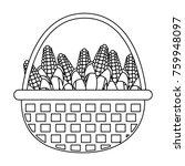 corns inside basket design | Shutterstock .eps vector #759948097