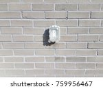 outdoor electrical outlet on... | Shutterstock . vector #759956467