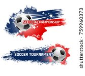 soccer ball  football... | Shutterstock .eps vector #759960373
