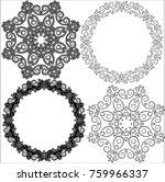 set of round frames or circular ... | Shutterstock .eps vector #759966337