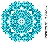 a blue circular pattern of hand ... | Shutterstock .eps vector #759966367