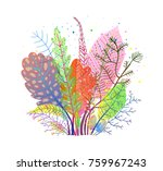 autumn gentle fall leaves... | Shutterstock .eps vector #759967243