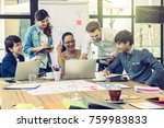 group of asian and multiethnic...   Shutterstock . vector #759983833
