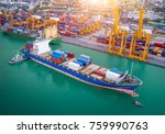 logistics and transportation of ... | Shutterstock . vector #759990763