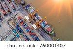 logistics and transportation of ...   Shutterstock . vector #760001407