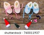 2018 new year written laces of... | Shutterstock . vector #760011937