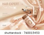 hair cosmetic ad shampoo... | Shutterstock .eps vector #760015453