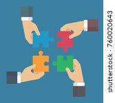 teamwork make the dream work.... | Shutterstock .eps vector #760020643