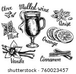 vector ink hand drawn style... | Shutterstock .eps vector #760023457