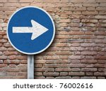 old sign on old wall | Shutterstock . vector #76002616