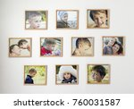 white wall with photos of the...   Shutterstock . vector #760031587