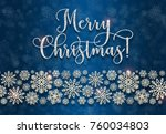 greeting card with golden text... | Shutterstock . vector #760034803