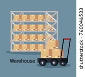 warehouse goods service icons | Shutterstock .eps vector #760046533