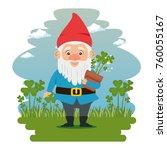 fantastic character dwarf... | Shutterstock .eps vector #760055167