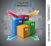 business infographics origami... | Shutterstock .eps vector #760056817