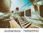 cruise ship deck. | Shutterstock . vector #760065943