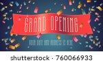 grand opening vector banner... | Shutterstock .eps vector #760066933