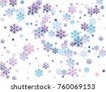 Modern Snow Flakes Falling...