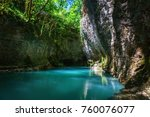 martvili canyon in georgia.... | Shutterstock . vector #760076077
