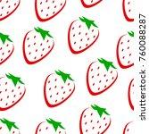 strawberry vector seamless... | Shutterstock .eps vector #760088287