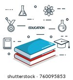 education tools set icons | Shutterstock .eps vector #760095853