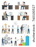 technologies and success ... | Shutterstock .eps vector #760100527