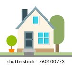 modern and simple flat vector... | Shutterstock .eps vector #760100773