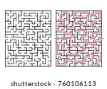 abstract maze   labyrinth with... | Shutterstock .eps vector #760106113