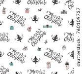 merry christmas. holiday vector ...   Shutterstock .eps vector #760109737