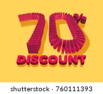 70  discount form by shopping... | Shutterstock .eps vector #760111393